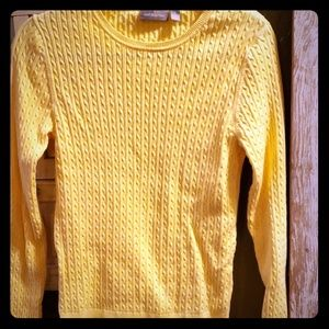 Croft &  Barrow NWOT cable knit sweater